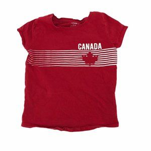 💜 5/$25 - Canada red tee shirt girls size 6 small